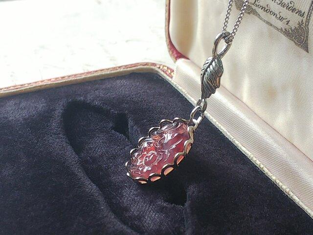 ヴィンテージ Grape-Gradation-Flower/Leaf Silverネックレスの画像1枚目
