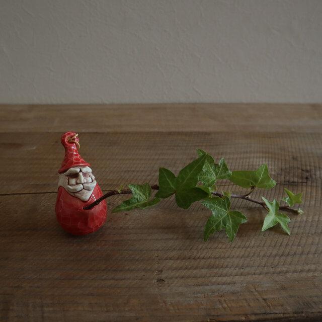 だるまサンタ(赤)/ 花器の画像1枚目