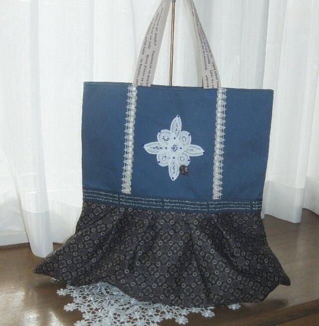青のしぶ綺麗バッグの画像1枚目