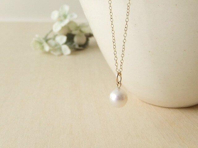 アコヤ真珠7㎜珠ネックレス(14kgf)の画像1枚目