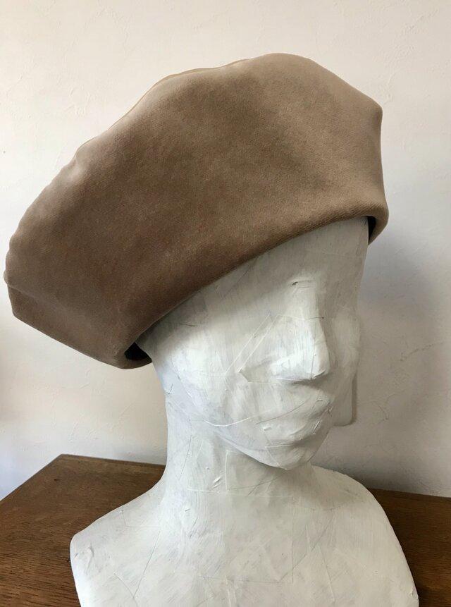 秋冬物ベレー帽の画像1枚目