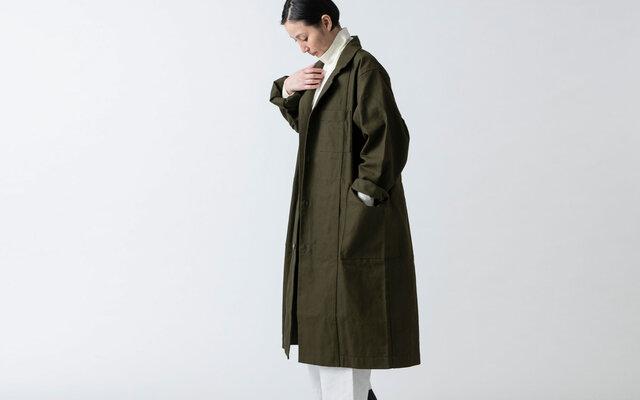 【別注色】木間服装製作 / coat 帆布 ブラック / unisex 1sizeの画像1枚目