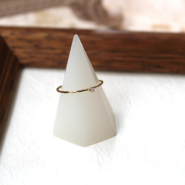 十金四大宝石指輪ダイヤモンド rr-135-dの画像1枚目