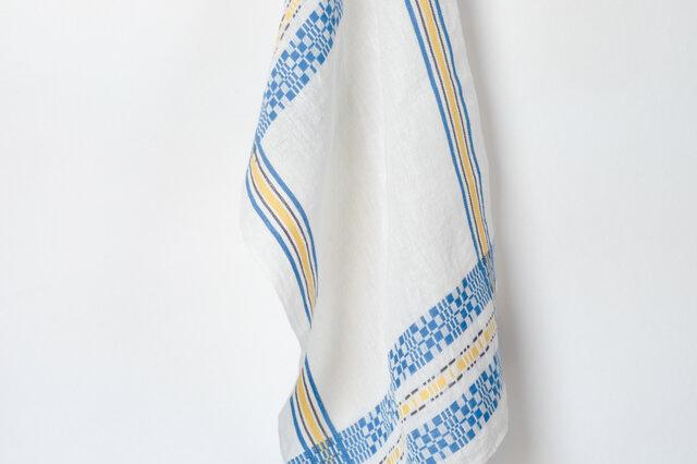 手織りリネンクロス【L-Munkabälte*01】の画像1枚目