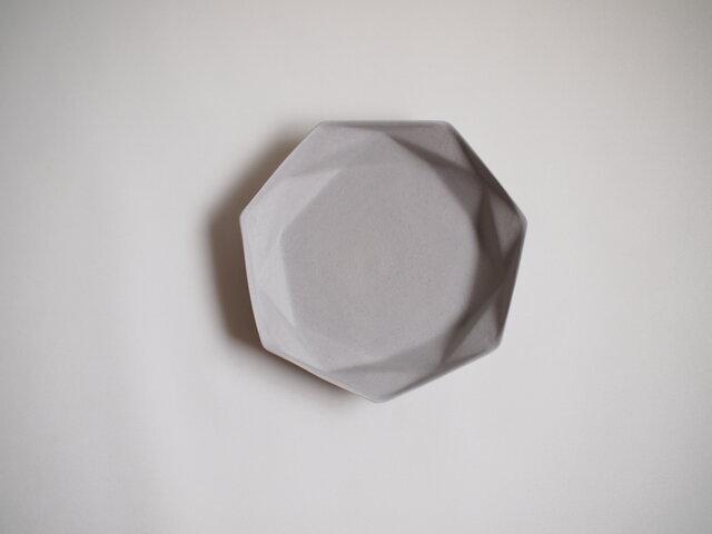 origamiプレート大(グレー)の画像1枚目
