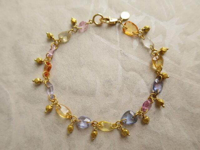 K18 Multi Sapphire Braceletの画像1枚目