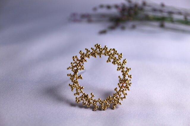 Brass brooch 「Winter wreath」の画像1枚目