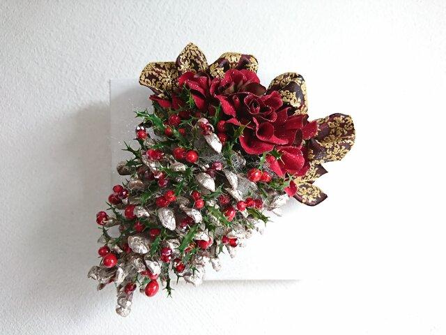 松ぼっくり de christmas  wreathの画像1枚目
