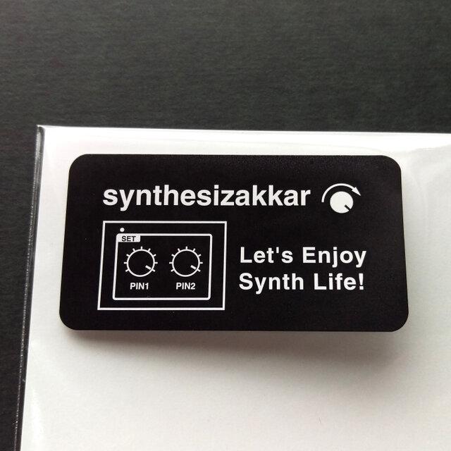 【シール】Let's Enjoy Synth Life!シンセサイザッカー シール大 5枚セットの画像1枚目
