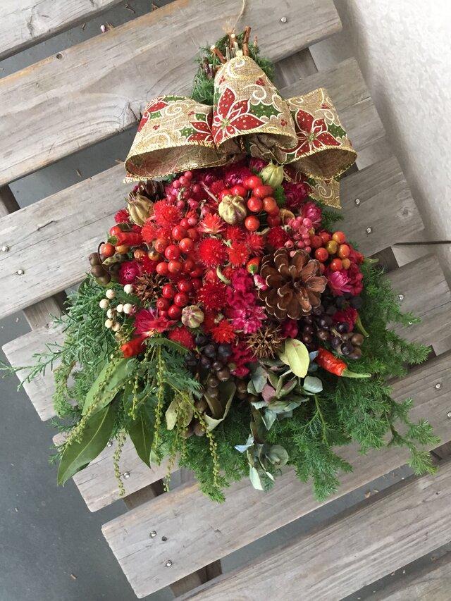赤い実のクリスマススワッグ(受注制作)再出品の画像1枚目