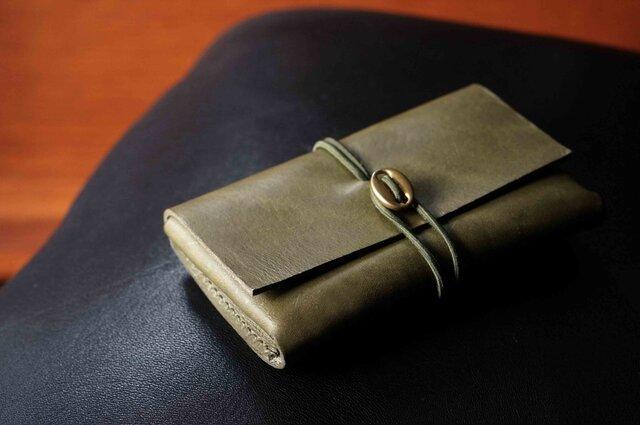 イタリアンレザー「cartao」カードケース#green【送料無料】の画像1枚目