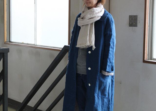 今冬NEW ラグランスリーブ 厚手リネンコート【受注生産】の画像1枚目