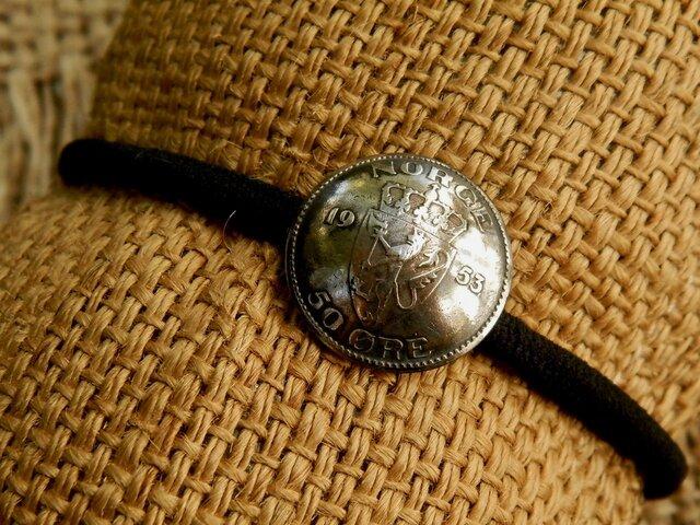#H163  Kingdom of Norway Coin Hair Elasticの画像1枚目