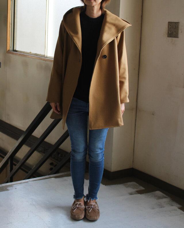 ウールあったかフーテッドコート 【受注生産品】の画像1枚目