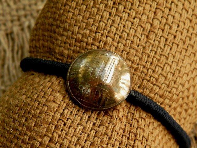#H164  România Coin Hair Elasticの画像1枚目