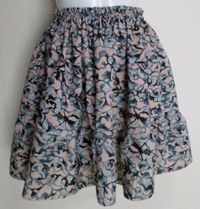 5283 花柄の着物で作ったミニスカート #送料無料の画像1枚目