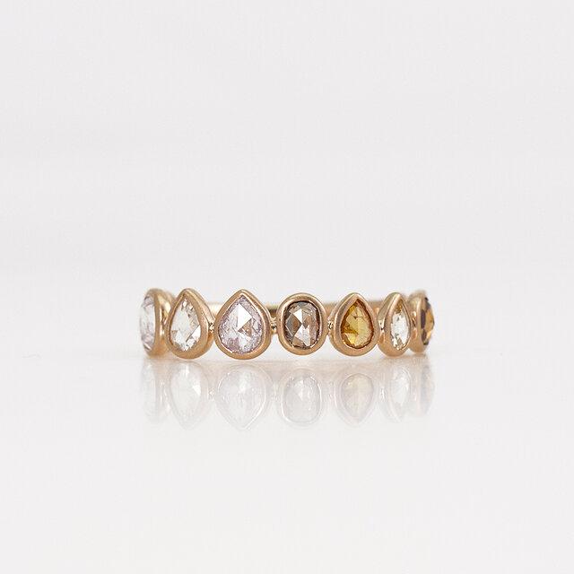 Rosecut diamond eternity ring / Multiの画像1枚目