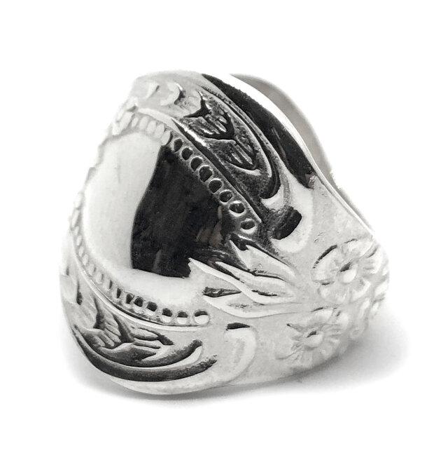 SOLID DESIGN SD-475c 銀食器シリーズ 銀スプーンリング 【大】の画像1枚目