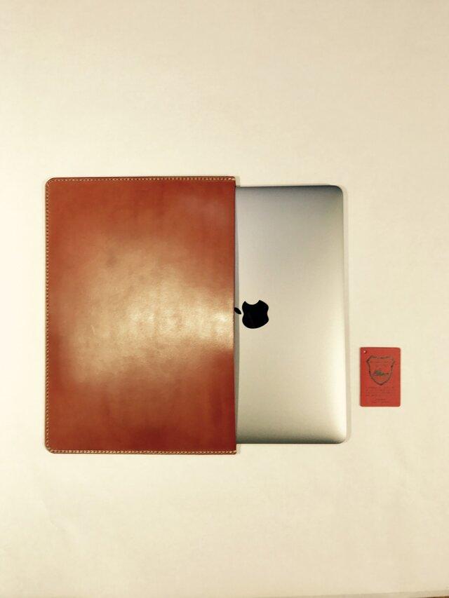 革のMacBook 13インチ用ケース brownieの画像1枚目