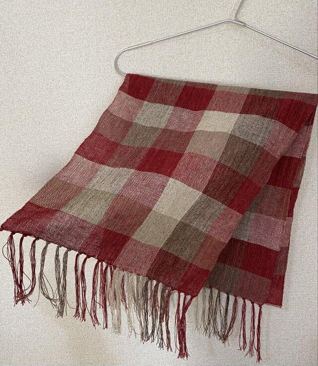 手織りストール W18の画像1枚目