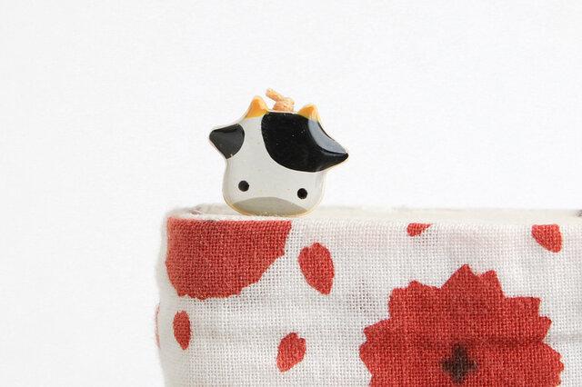 木製 牛しおり 丑(ブックマーカー)の画像1枚目
