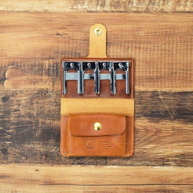 姫路産 馬革 ヌメ革 コインキャッチャーコインケース 財布 手もみ シュリンク加工 【キャメル】JAK021の画像1枚目