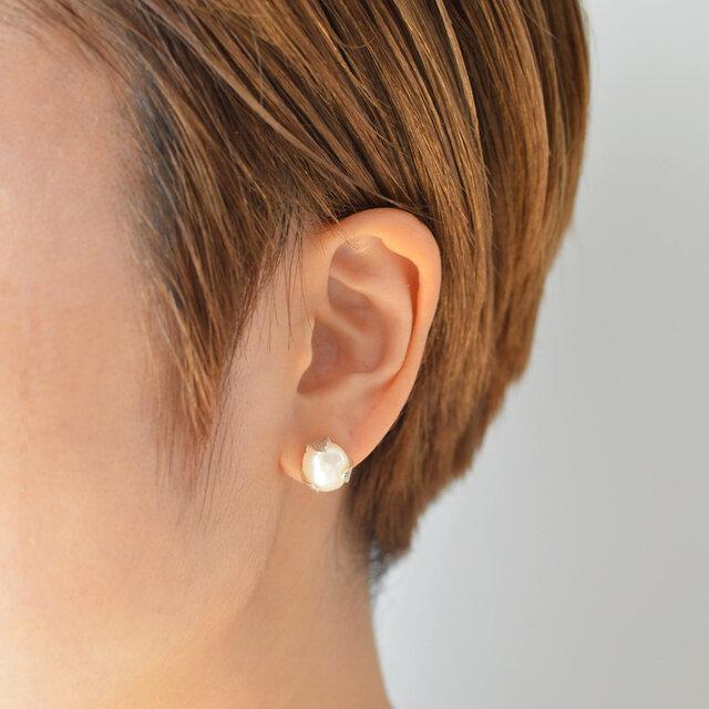 つぼみのピアス:片耳:silver925の画像1枚目