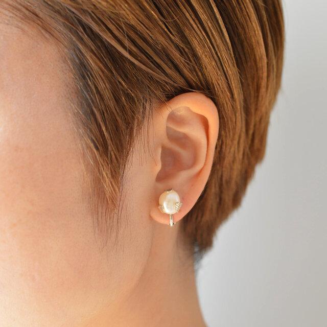 つぼみのイヤリング:片耳:silver925の画像1枚目
