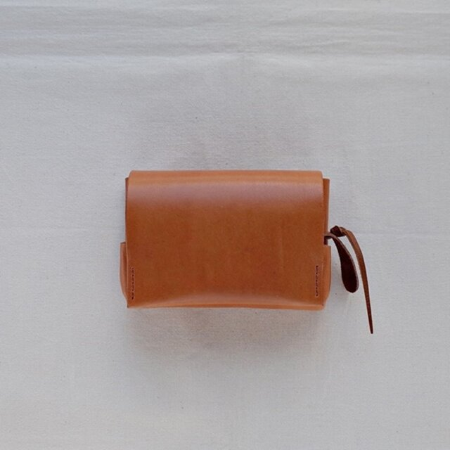 小型財布 茶の画像1枚目