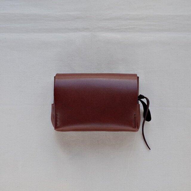小型財布 こげ茶の画像1枚目