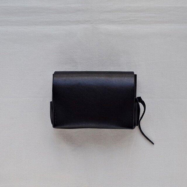 小型財布 黒の画像1枚目