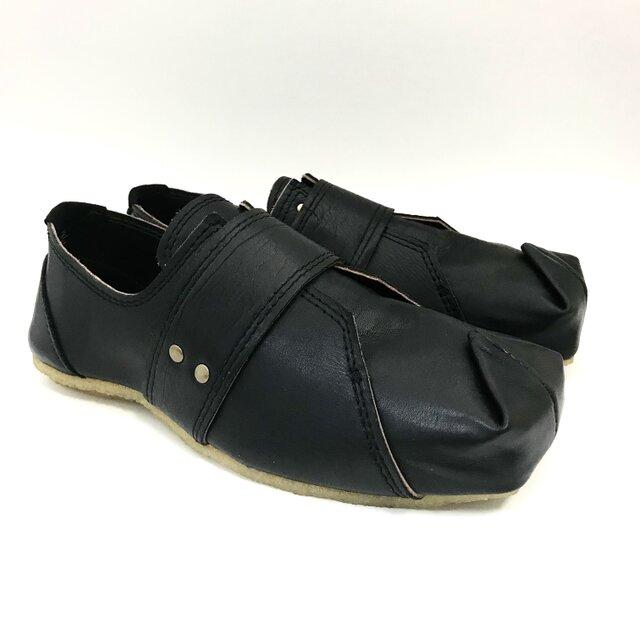【受注製作】SQUARE slip-on sneakers(natural leather)の画像1枚目
