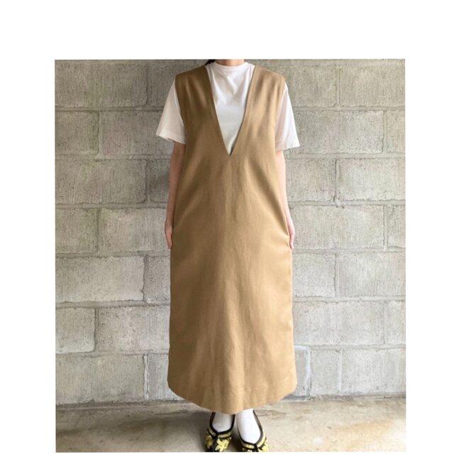 jumper skirt(beige)の画像1枚目