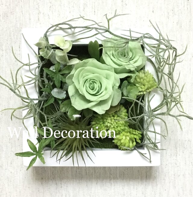 Green  rose  Wall  deco Dの画像1枚目