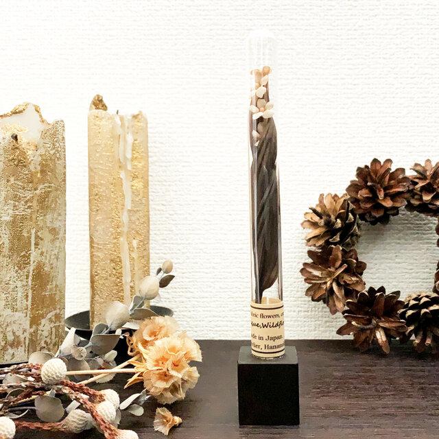 "Ornament :  布花標本 "" Antique flower. "" オーナメント/ボトルタイプの画像1枚目"