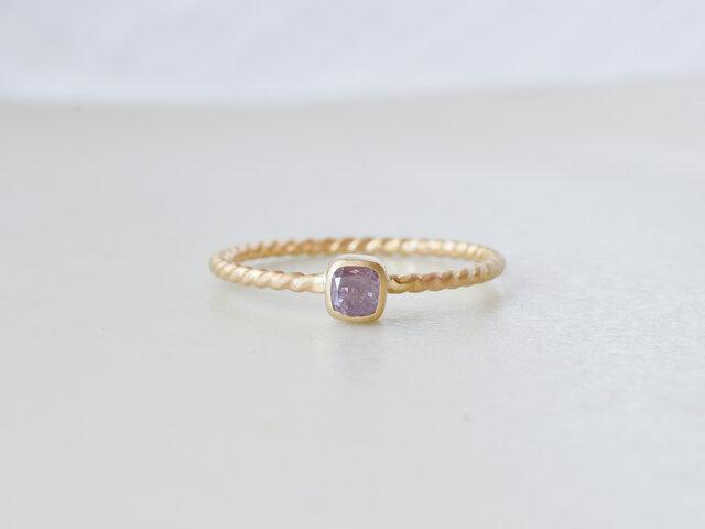 Lavender Diamond Ringの画像1枚目