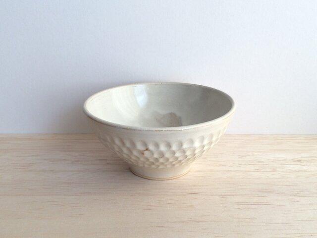 しのぎ茶碗(アイボリー)の画像1枚目