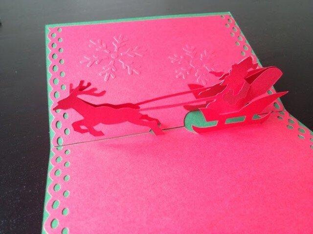 Christmas Card - Pop Up Santa 2の画像1枚目