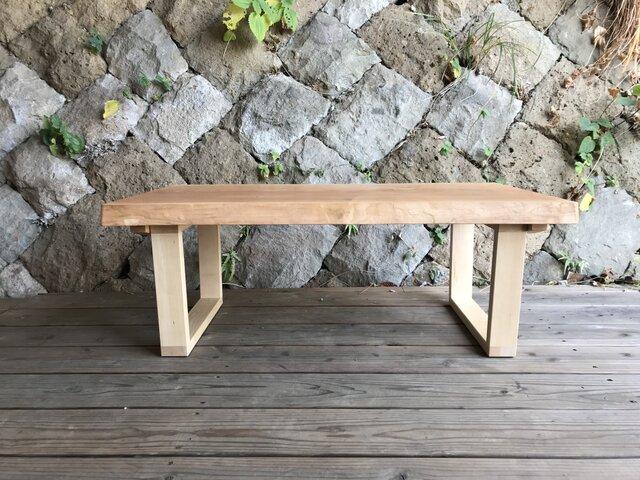 一枚板のローテーブル チェリーの画像1枚目