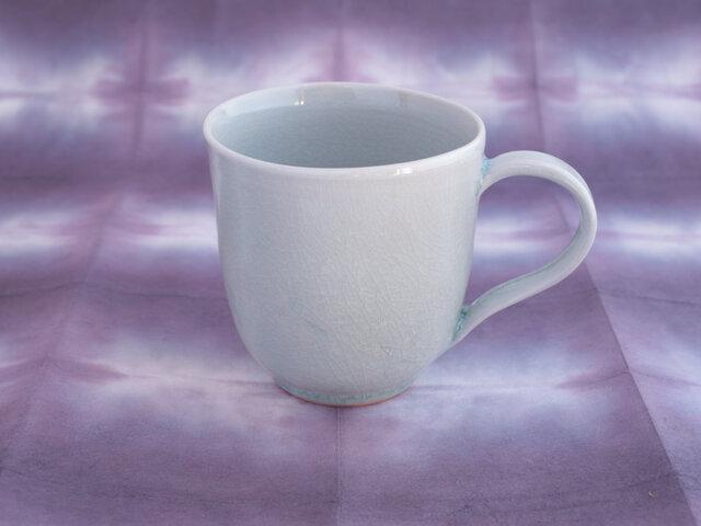 りんご灰釉 マグカップ〈花びら〉の画像1枚目