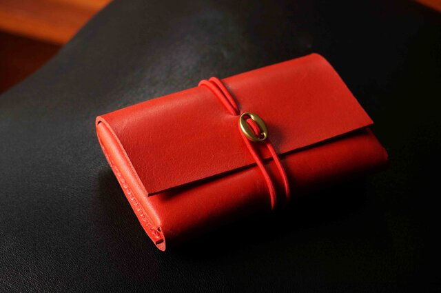 イタリアンレザー「cartao」カードケース#red【送料無料】の画像1枚目