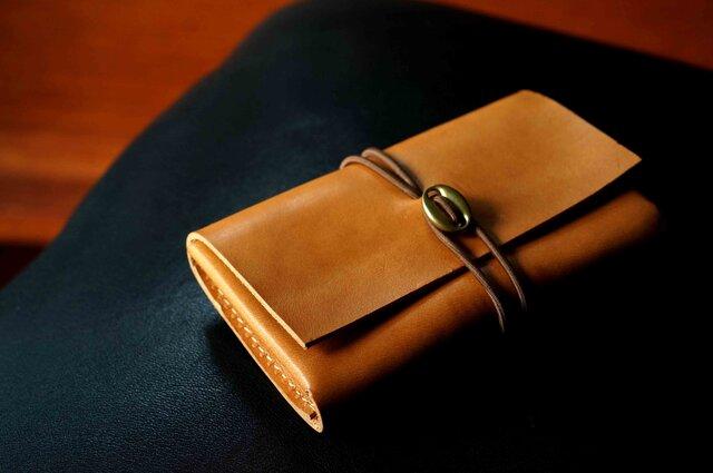 イタリアンレザー「cartao」カードケース#camel【送料無料】の画像1枚目