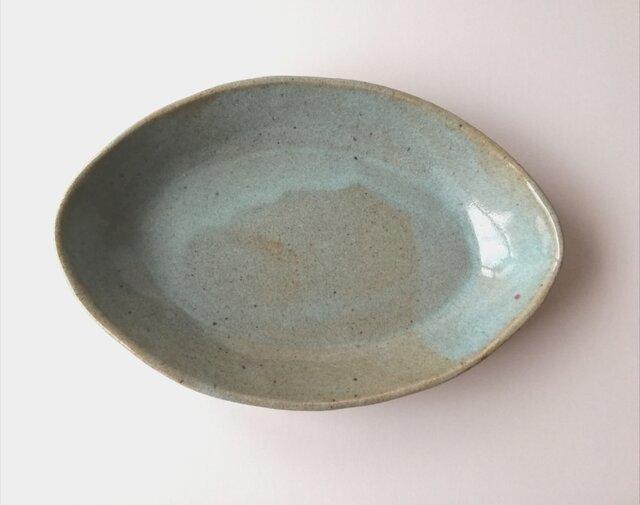 松灰釉舟形大皿の画像1枚目