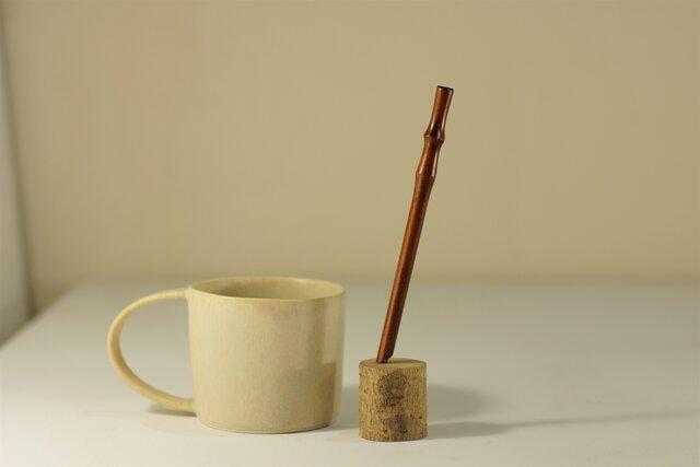 【短い】さくら漆ストロー(茶)[Sakura Straw Short] 15cm x Φ6mmの画像1枚目