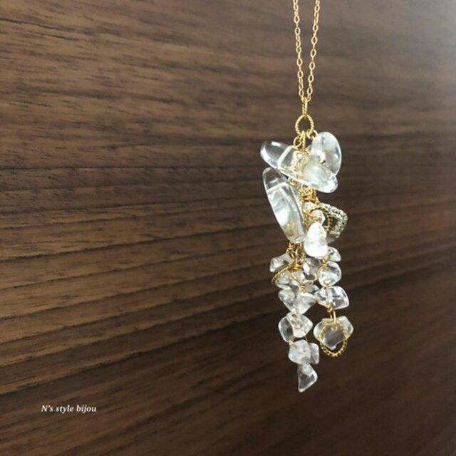 雨の雫 ame no shizuku シリーズ(ネックレス)水晶の画像1枚目