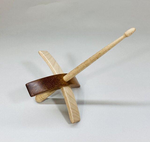 ターキッシュスピンドル 糸紡ぎ道具  ハワイアンコア材の画像1枚目