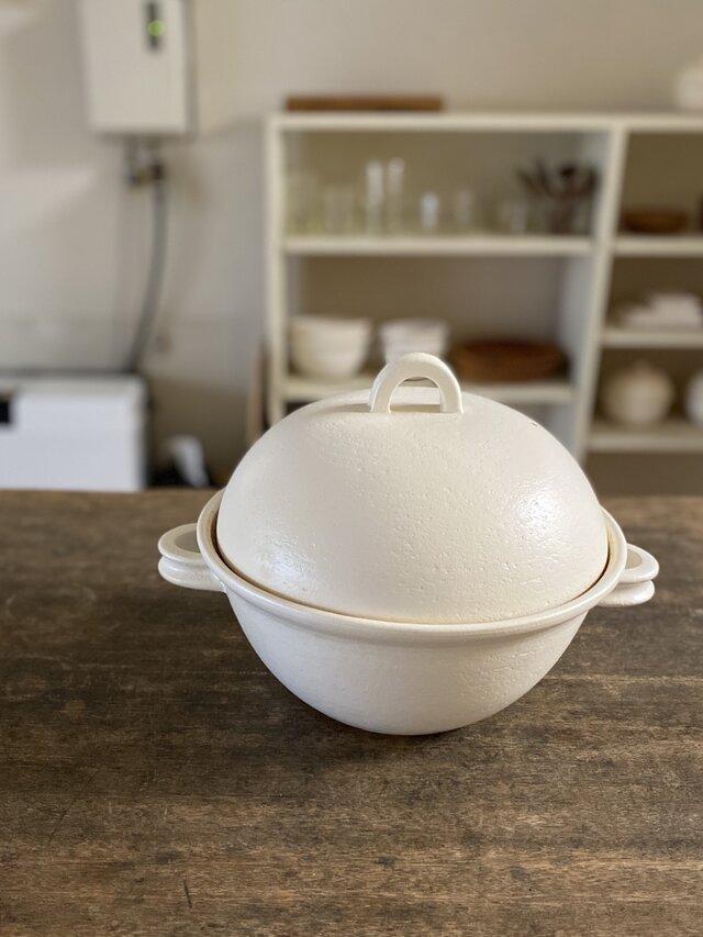 コロン鍋(白)5合炊きの画像1枚目