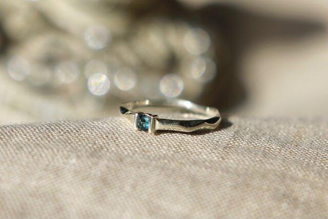 Ripples ring ☆ Blue Tourmaline 《ブルートルマリンのさざなみリング》の画像1枚目