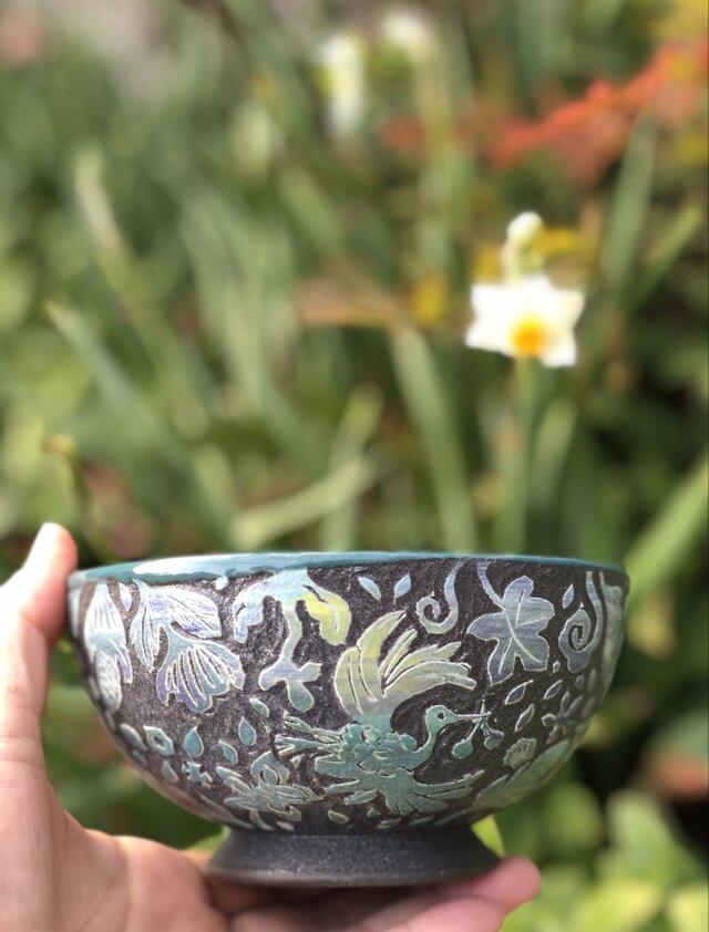 Kakiotoshi bowl - 舞鶴と実の画像1枚目