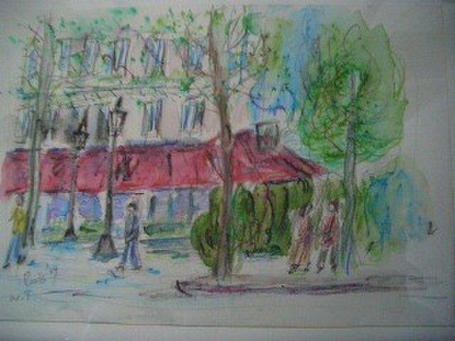 パリの街角の画像1枚目